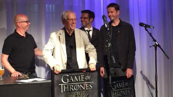 Reinhard Kuhnert Goldenen Schallplatte für Hörbücher Games of Thrones